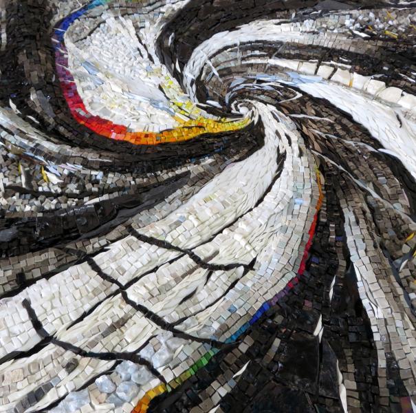 mosaic art by Yulia Hanansen, abstract art