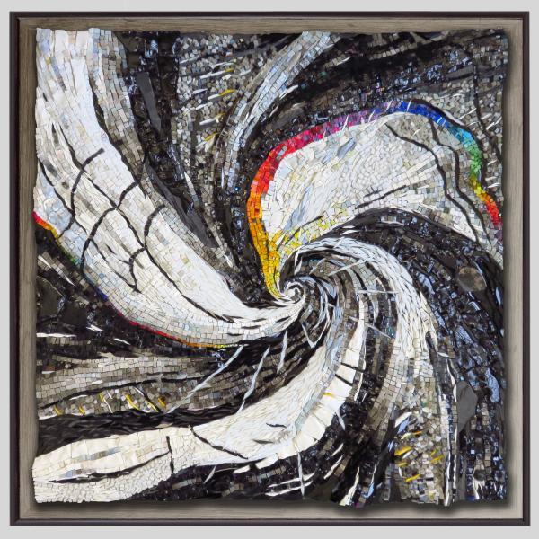 mosaic art by Yulia Hanansen, abstract art, spiral