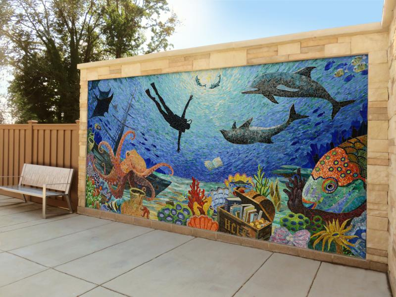 mosaic mural by Yulia Hanansen