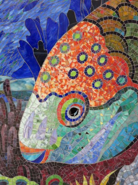 mosaic mural by Yulia Hanansen, #mosaics