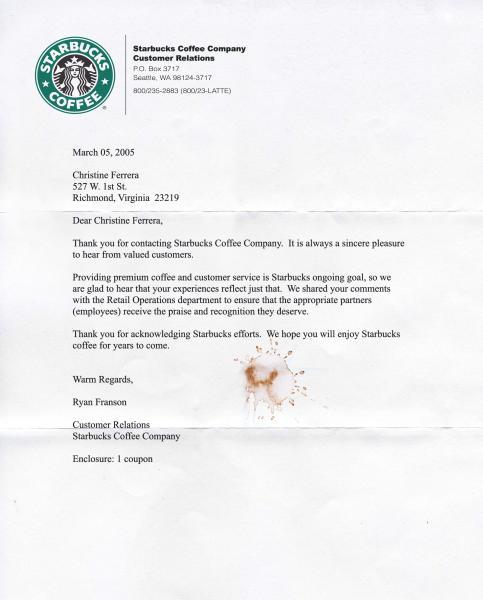 Starbucks Coffee Customer Service Representative Ryan Franson