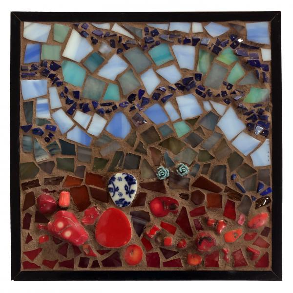 Mosaic, Flowers Grow out of the Blood Soaked Ground