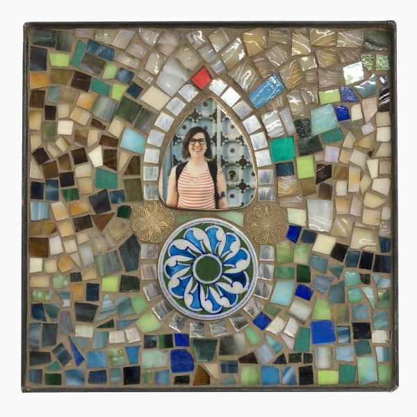 Mosaic, Self-portrait