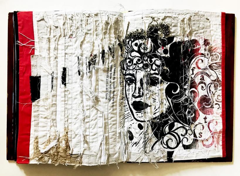 Handmade textile book