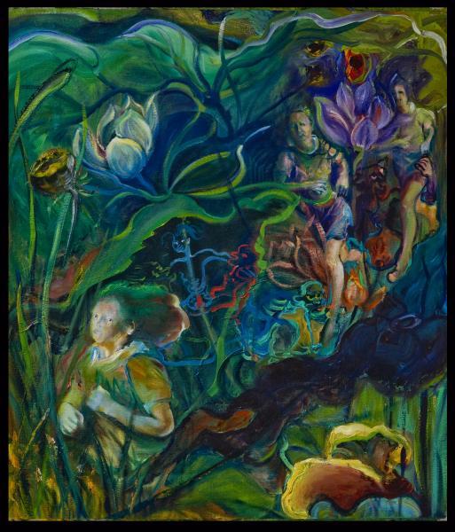 swamp imagery, Buddhist mythology,