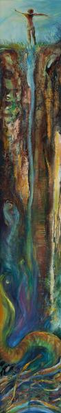 memory, mortality, journey, sliver oil painting