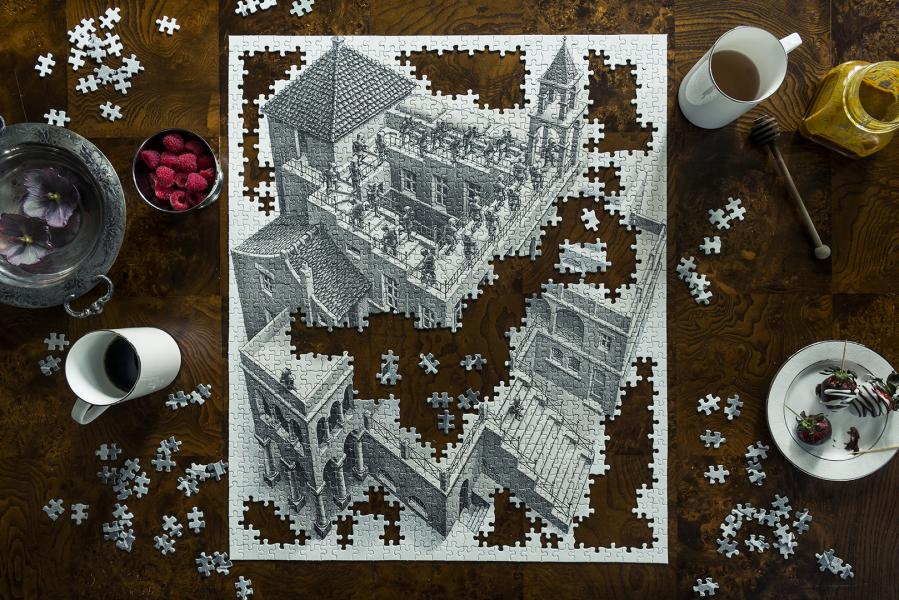 """Photograph of """"Insanity Among Catharsis with Escher."""""""