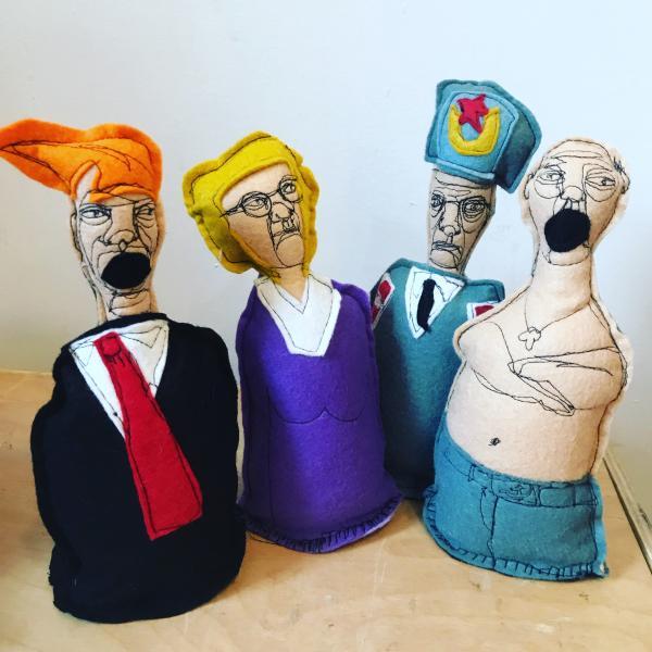 Political satire, political dolls. voodoo dolls