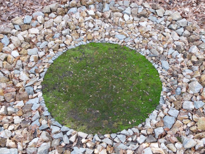 earthwork, land art, moss, burial mound