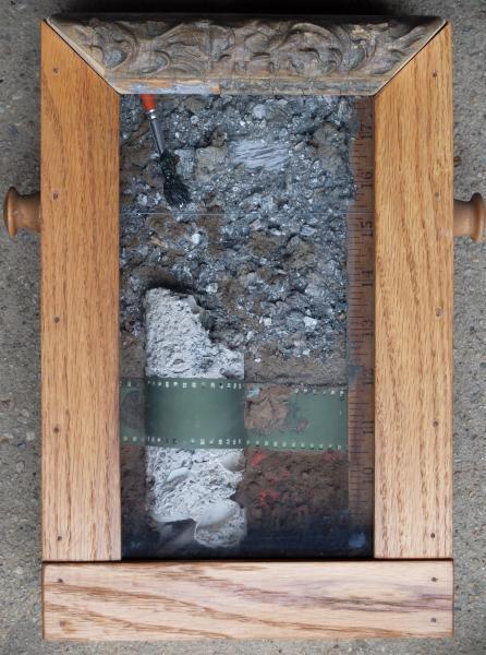 box construction, stone, shadow box