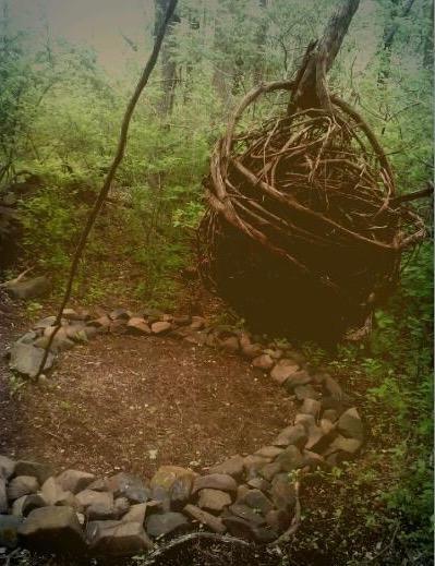 earthwork, land, vines, dry laid stone