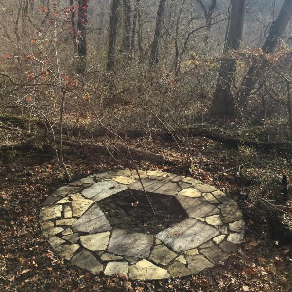 Mountain mint, passionflower, bluestone, colonial gallstone, dry laid stone,