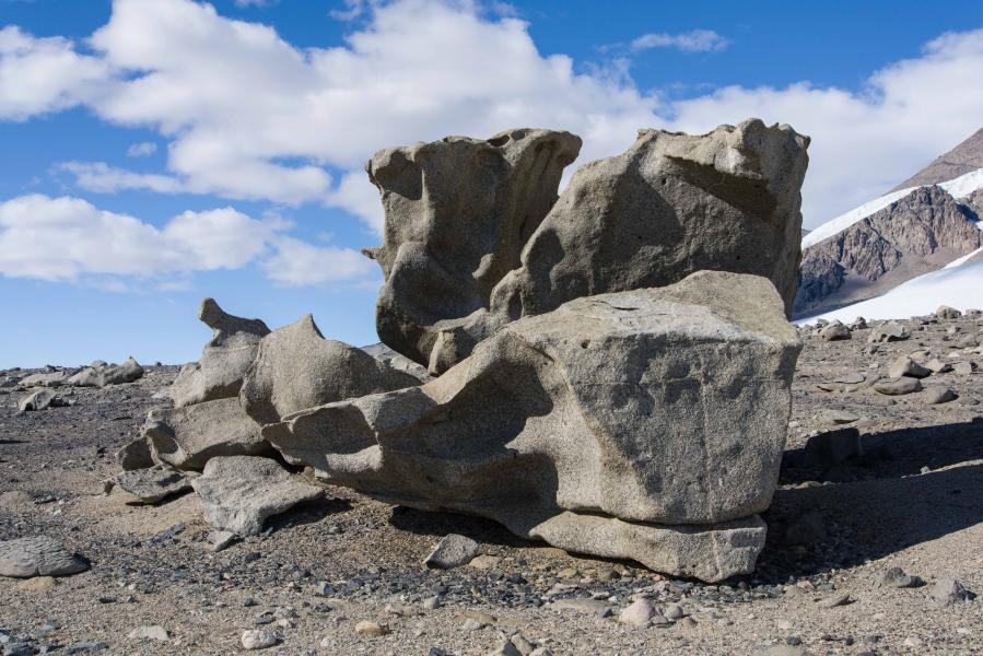 """Seated Figure"" Ventifact Group Dry Valleys, Antarctica"