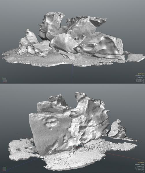 Seated Figure Ventifact Group Dry Valleys, Antarctica