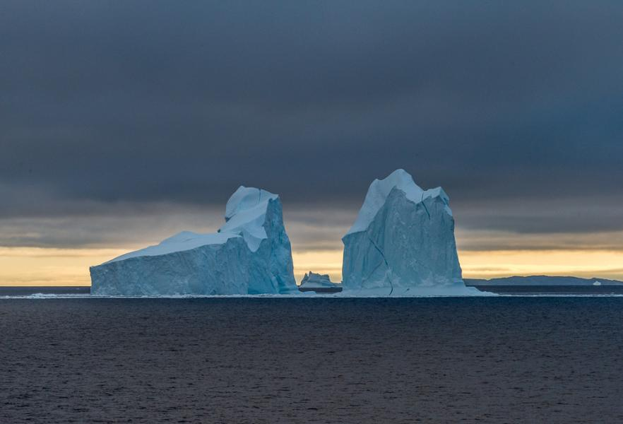 Towering Icebergs, Davis Strait, Greenland