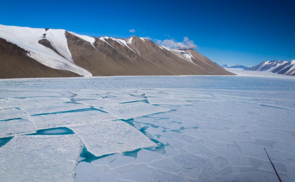 Rectangular Sea Ice, McMurdo Sound, Antarctica