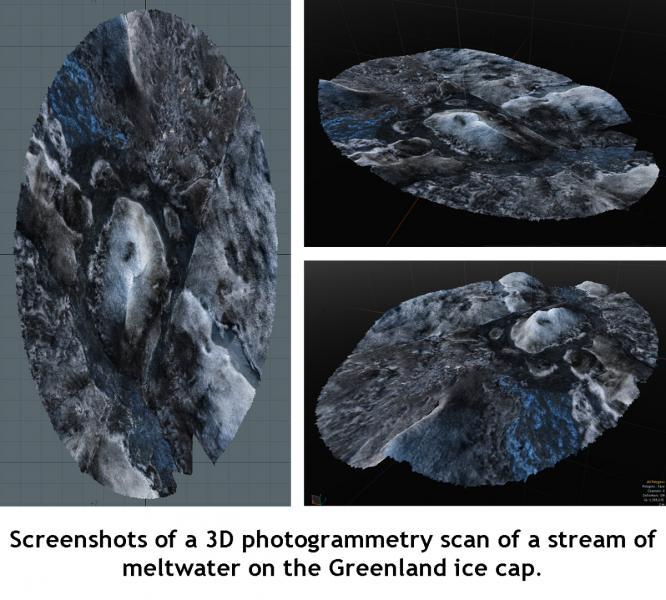 Greenland Ice Sheet 3D Scan Screenshots