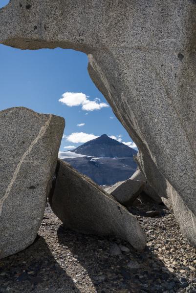Matterhorn Framed by Ventifacts, Dry Valleys, Antarctica