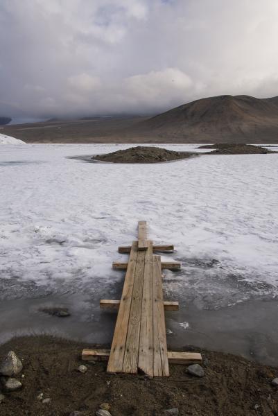 Bridge Onto Lake Hoare, Antarctica