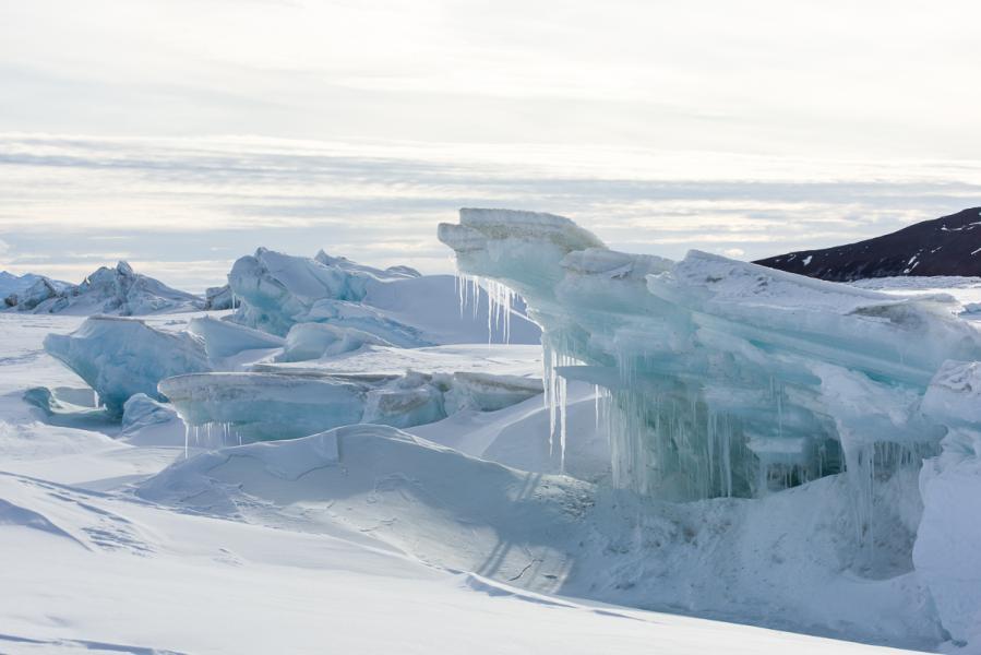 Icicles, Scott Base Pressure Ridge, Antarctica