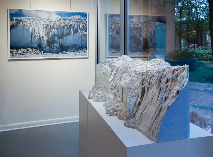 Canada Glacier photo and sculpture, Trawick Prize Finalists Exhibition