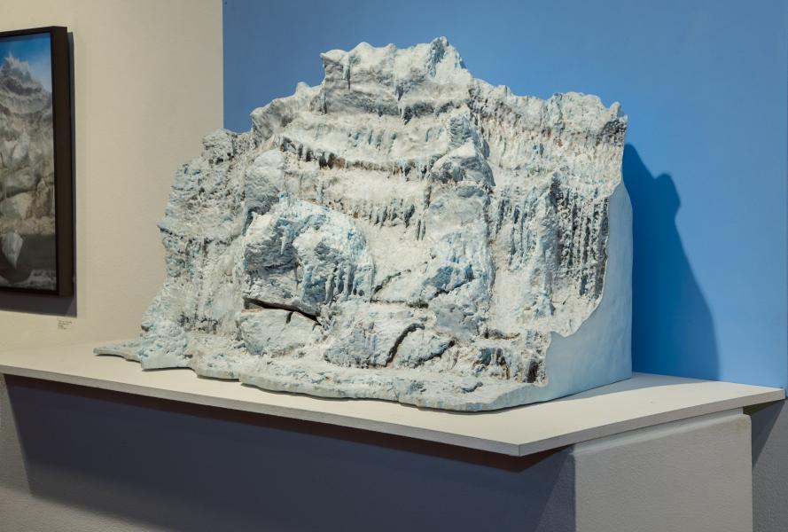 """Giant's Face"" Pressure Ridge, McMurdo Sound, Antarctica, angle view"