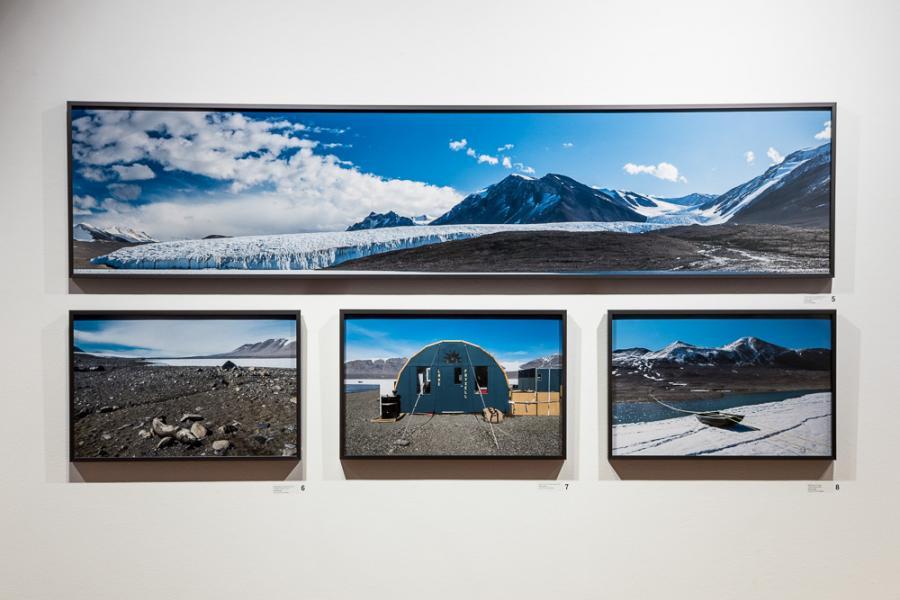 """""""Walking in Antarctica"""" exhibition installation, Rosenberg Gallery, Goucher College"""