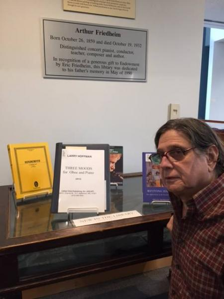 """""""Three Moods for Oboe and Piano"""" was selected as a featured """"new score"""" in Peabody Conservatory's Friedheim Librarry"""