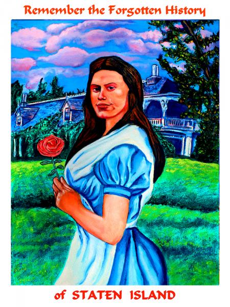 Alice Austen in the Wonderland of Staten Island: Poster from the Forgotten History of Staten Island. A public art Piece by Edward Weiss, sponsored by NYSCA.
