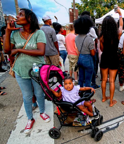 Baltimore City People, Different Reactions to Artscape. Photo by Edward Weiss.