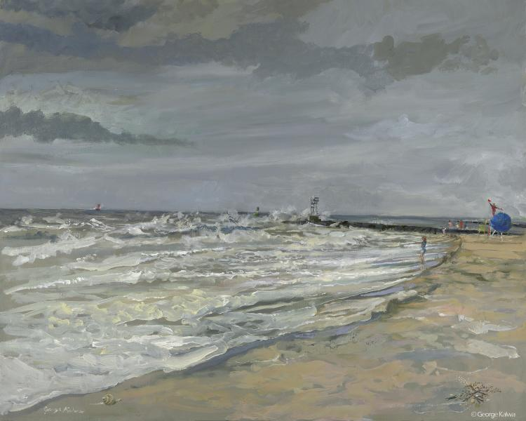Plein Air competition in rough weather