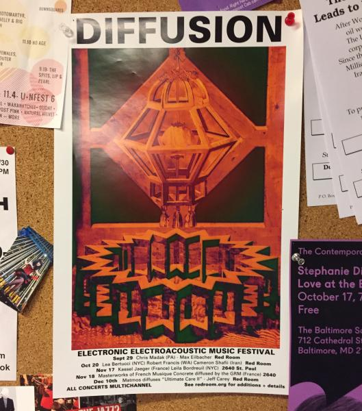 Poster for the Diffusion Festival for multi-channel electronic music