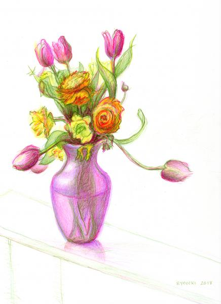 Ranunculus with Tulips