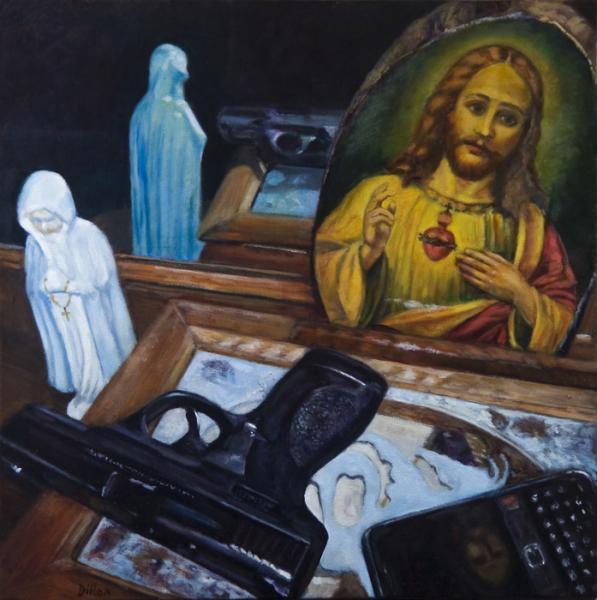 social commentary, hand guns