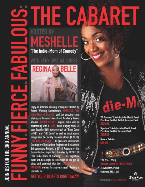 GRAMMY AWARD WINNER, REGINA BELLE Special Guest at 3rd Annual Funny, Fierce, Fabulous :THE CABARET Signature Event