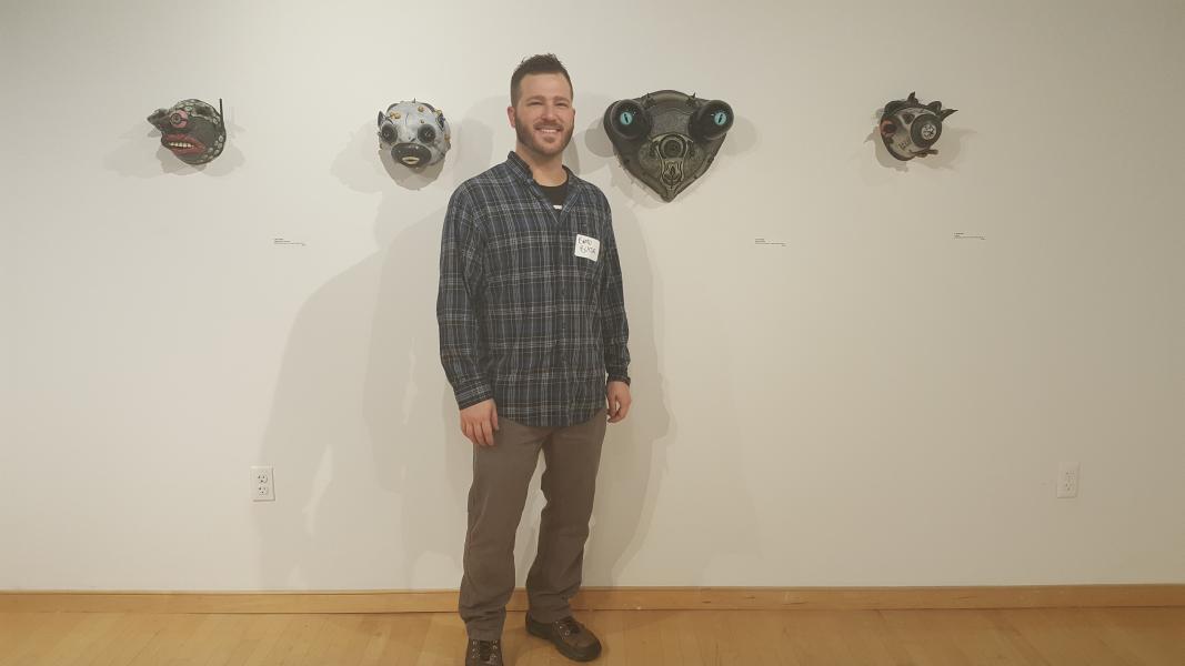 """Opening reception of """"Phantasmagorical"""" at the Howard County Arts Council."""