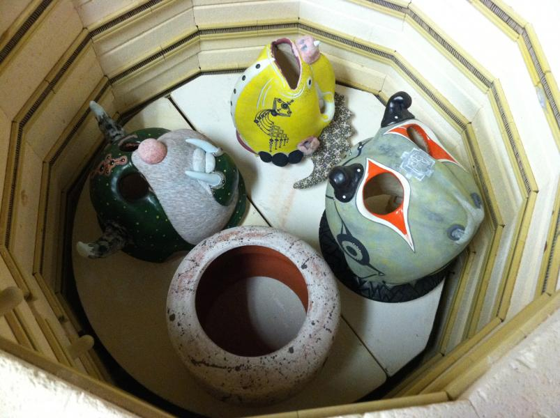 Brad Blair, Sculptures in Kiln