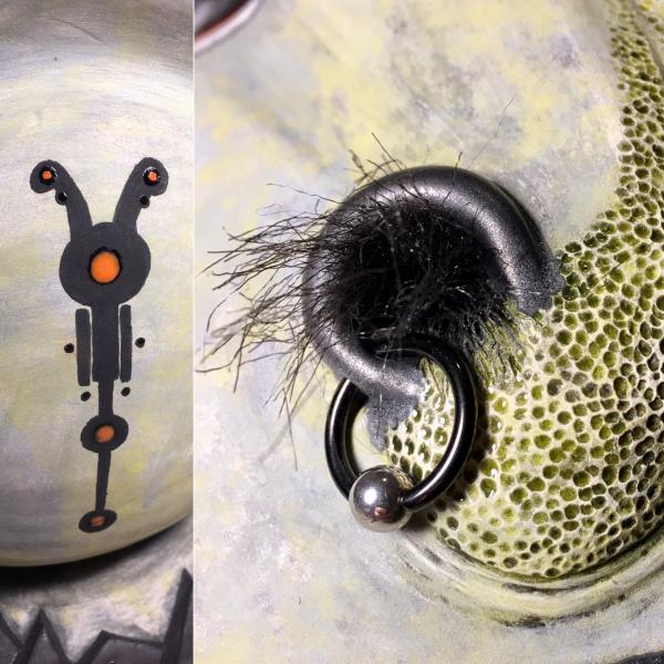Brad Blair, Underglaze Design and Nostril Details