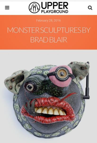 Brad Blair Ceramics in Upper Playground Article 2016