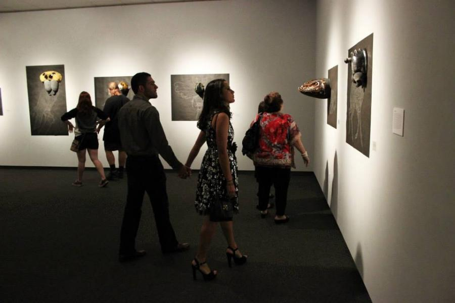Opening Reception, Brad Blair, MFA thesis exhibition at the Museum of Fine Arts at Florida State University