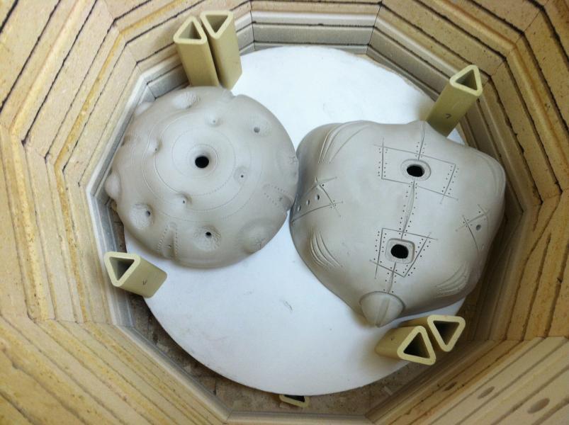 Brad Blair, Sculptures, Kiln, Bone Dry, Work in Progress