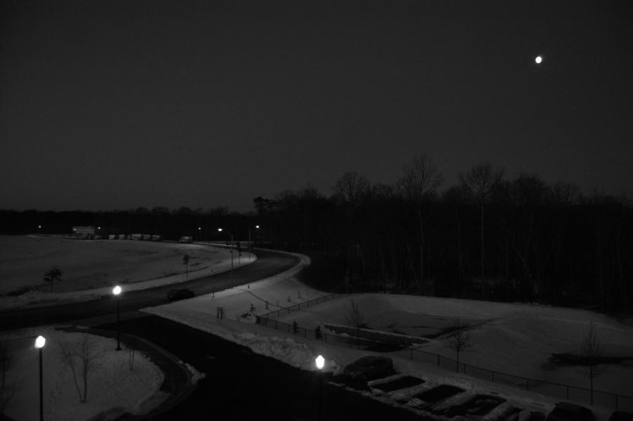 Morning Moon moonset