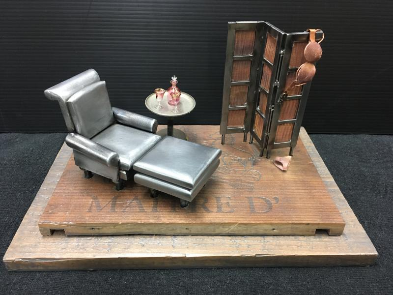 Boudoir, dressing room, steel art, miniart, miniature art