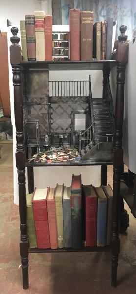 book art, miniature art, steel sculpture, literary art
