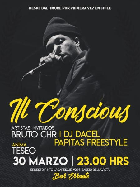 Bar Errante, Santiago de Chile, Chile, Santiago, Baltimore, Ill Conscious, Papitas Freestyle, live performance
