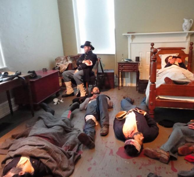 One of the exhibition scenes in Citizens at the Crossroads at Seminary Ridge Museum.