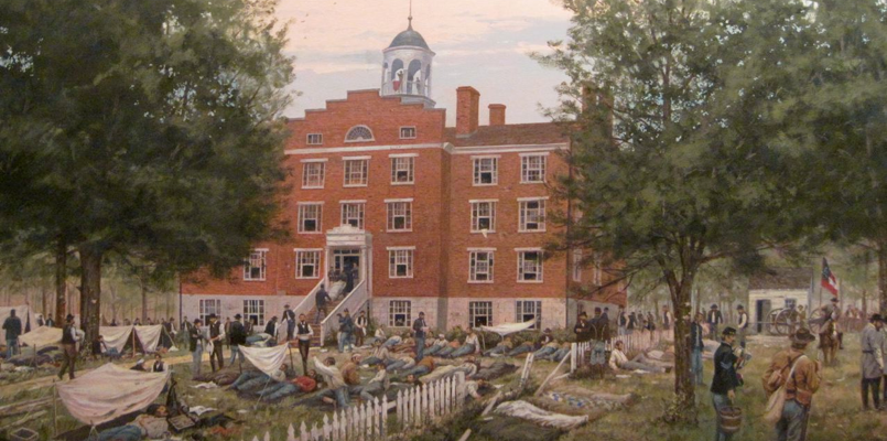 Lutheran Theological Seminary, Gettysburg, site of first day of Battle. Dale Gallon, artist.
