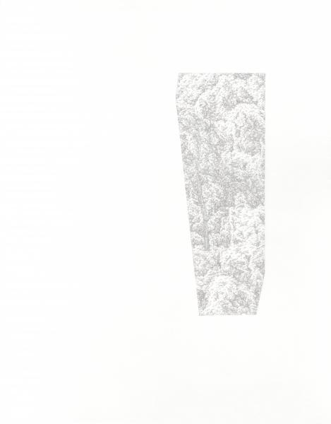 "Window #2, silverpoint on prepared paper, 14"" x 11"", 2019."