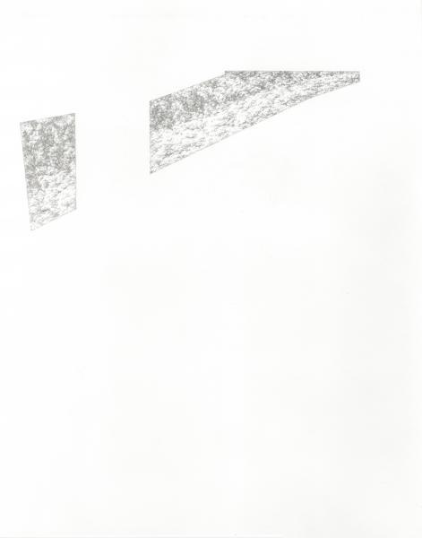 "Window #3, silverpoint on prepared paper, 14"" x 11"", 2019."