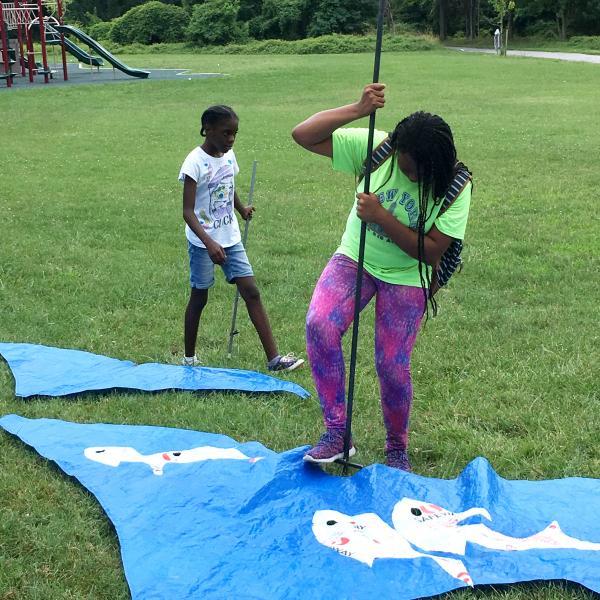 Herring Run Waves - Installation with AFYA School Students